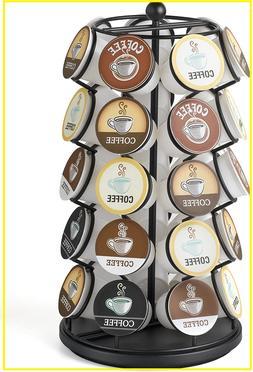 K Cup Carousel Black Coffee Holder Keurig Storage Cup Organi