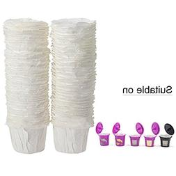 BRBHOM K-Cup Disposable Paper Filters Cups Compatible for K
