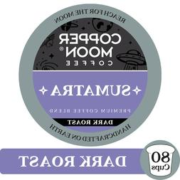 COPPER MOON COFFEE K-CUPS SUMATRA BLEND, 80 COUNT