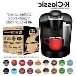 Keurig K55/K-Classic Single Serve Coffee Maker + 40ct Variet