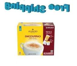 Gevalia Kaffe Cappuccino Coffee Keurig 12 Count k-cups