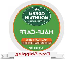 Keurig Green Mountain 1/2 Half Caff Coffee K-cups 48 Count