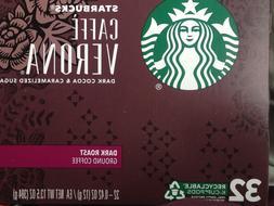 Keurig Starbucks Caffé Verona Coffee!  32 Keurig K-Cups!