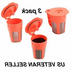 3-Pack Keurig 2.0 K-Carafe K-Cups Refillable Reusable K-Cup