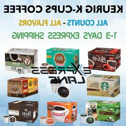 Keurig Coffee K Cups 32/72/80/100 Capsules Light or Dark Roa