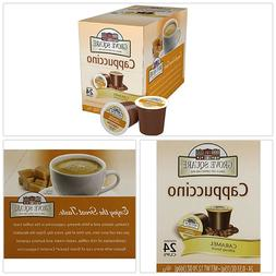 keurig Coffee Pods K cups Cappuccino, Caramel, 24 Single Ser
