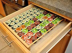 Coffee Pod Storage Organizer Insert for Drawer Holds 63 K-cu