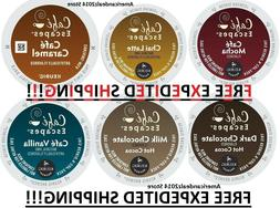 Cafe Escapes Keurig K-Cups 16, 32, 64, 96 - FRESH - FREE EXP