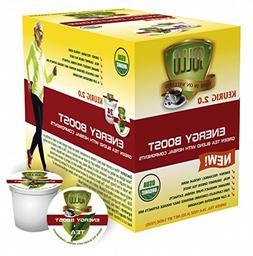 SOLLO Keurig K-Cup Pods, Energy Boost Organic Green Tea  Her