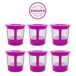 6 Pack Keurig Reusable K Cup Coffee Filters, KUNGIX Universa