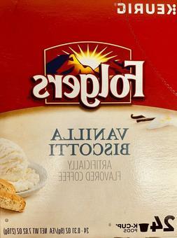 Keurig Folgers Vanilla Biscotti Coffee Keurig K Cup Cups 24