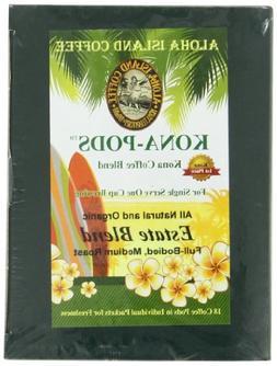 Aloha Island Coffee KONA-POD, Estate Blend Medium Roast, Kon