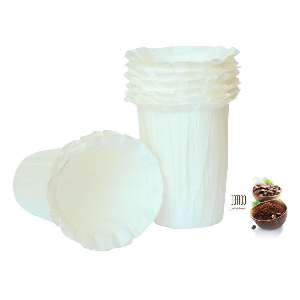i Cafilas 200 Disposable Paper Filters Cups Replacement Carafe for Keurig K-Cup