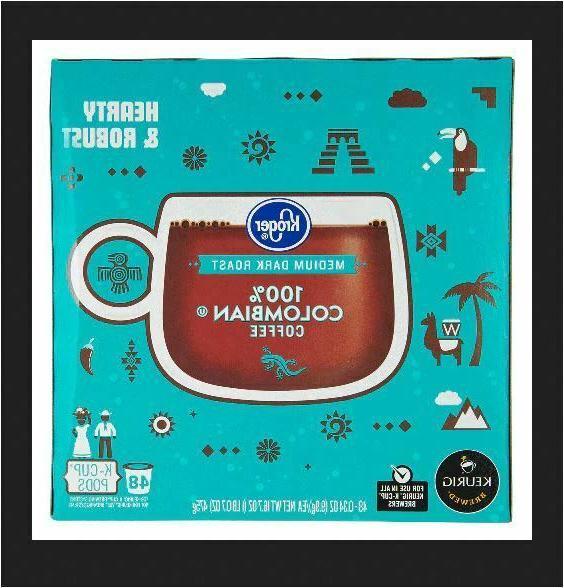 Kroger 100% Colombian Coffee K-Cups, Medium Dark Roast - 96