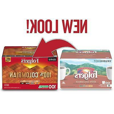 Folgers 100% Colombian Aroma Coffee 100 Pods