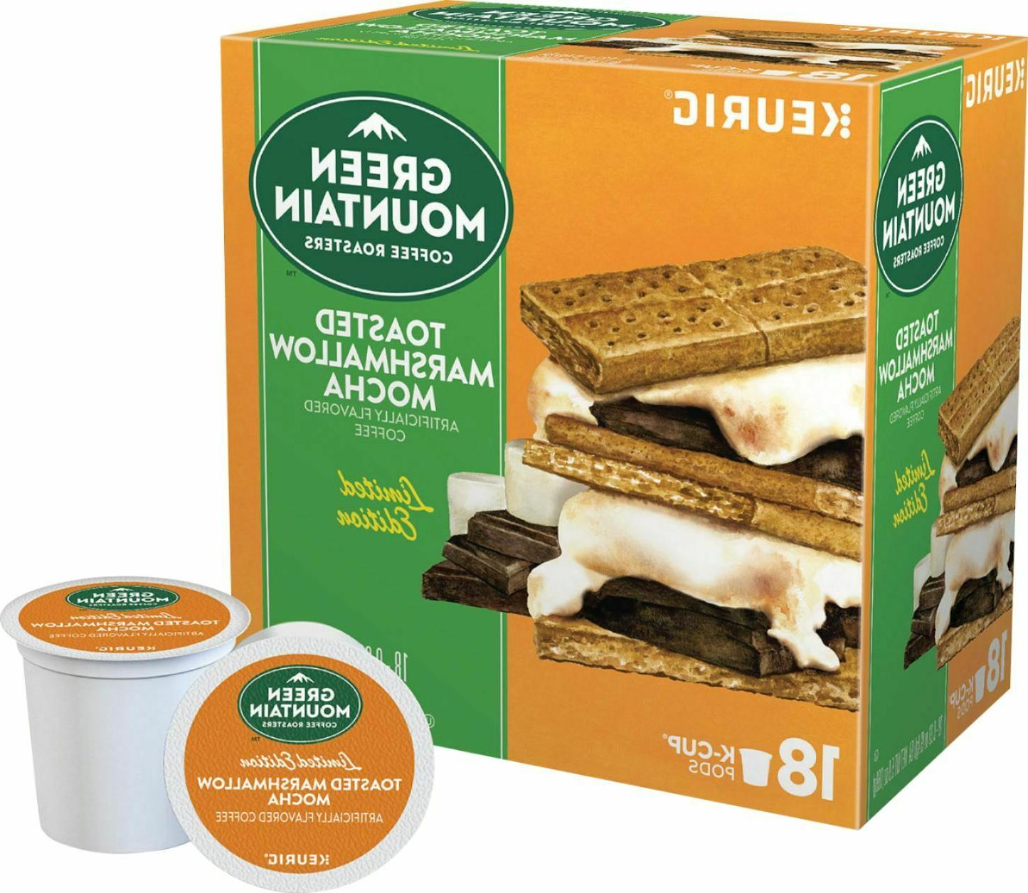 18 toasted marshmallow mocha k cups pods