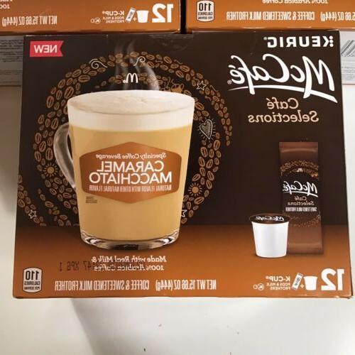 3-Pack McCafe Macchiato Keurig K-Cups Milk Total
