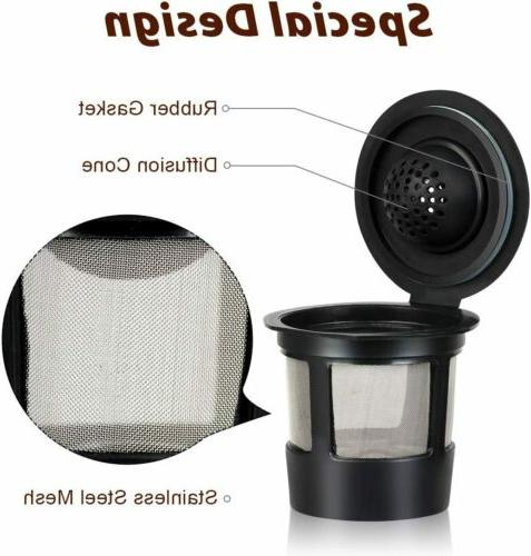 4 Pack Refillable K-Cups Coffee Filter for Keurig