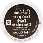 96 Count Cafe Escapes 'DARK CHOCOLATE' Hot Cocoa Kcup K-cup