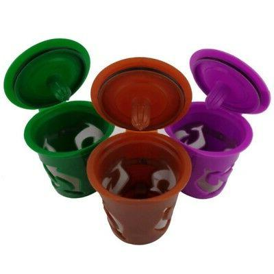 5PCS K-Cups Reusable K-cup Coffee Filter For Keurig 2.0 & 1.