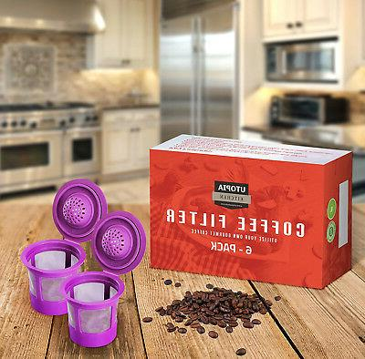 6 Reusable K-Cups, Refillable K For 1.0