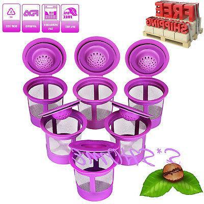 6 reusable k cups refillable k cup