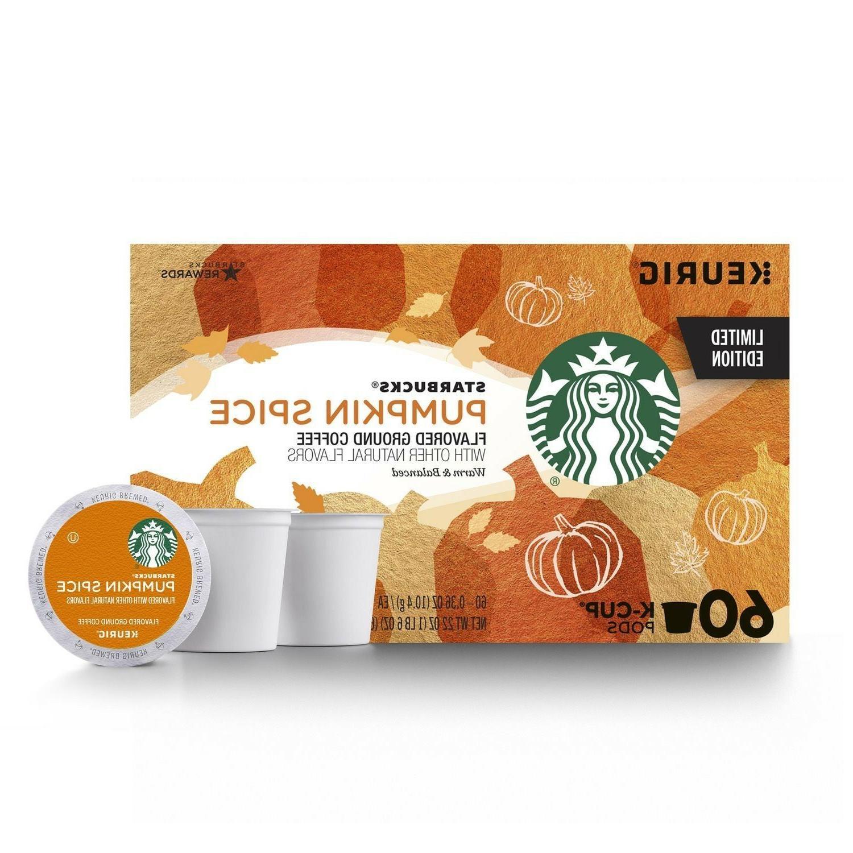 60 ct Starbucks Pumpkin Spice Medium Roast Ground Coffee K C