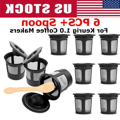 6pcs K Cups Reusable Replacement Coffee Filter Refillable Ho