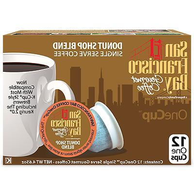 72 Donut Blend Bay Coffee OneCup For K-cup brewer