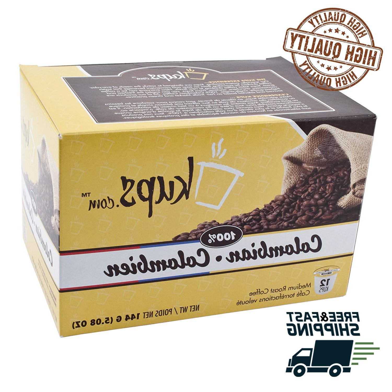 72 Danmar 100% Colombian Coffee K Cups Kup Pods Keurig Capsu