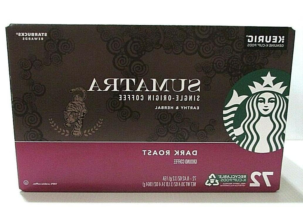 72 keurig k cups sumatra coffee single