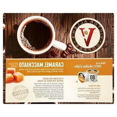 80ct - Victor Coffee Caramel Roast Single Cups