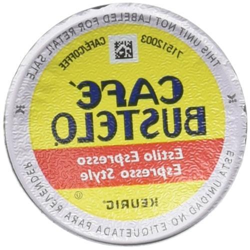 Cafe Bustelo, K-Cup Single Serve, 12 Count, 4.44oz Box