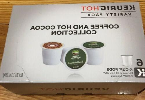 Keurig 6 K Cups Green Mountain Coffee Variety Pack  Hot Coco