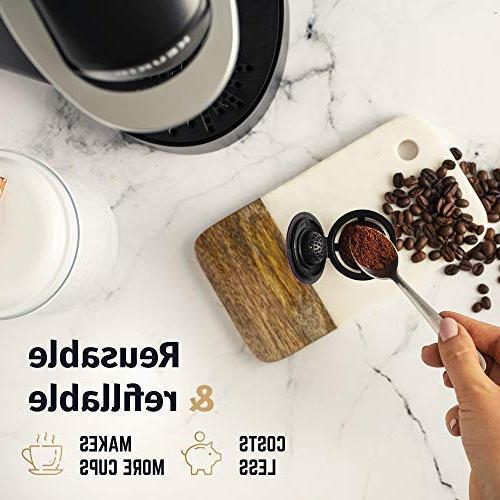 Reusable K Cups Keurig Brewers Easy Refillable Single Cup Coffee - Eco Friendly Steel Mesh