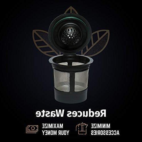 Reusable K Keurig Brewers Universal Easy To Single Cup Coffee Filters - Friendly Steel