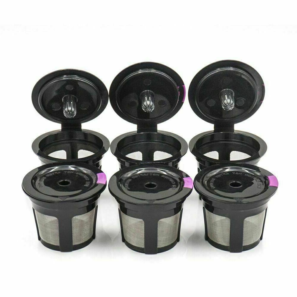 black refillable reusable single k cups filter