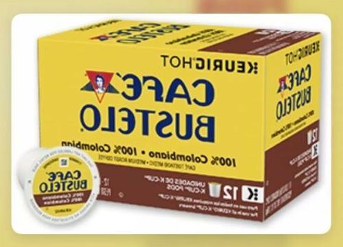 Cafe Bustelo 100% Colombian K-Cups Medium Roast Keurig 24 Co