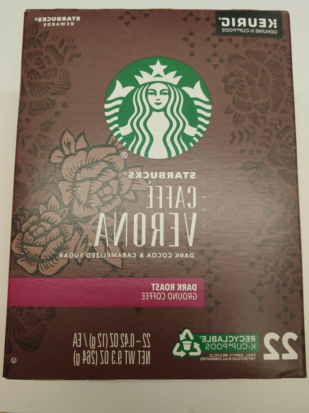 Starbucks Caffe Roast Ground K-cups exp