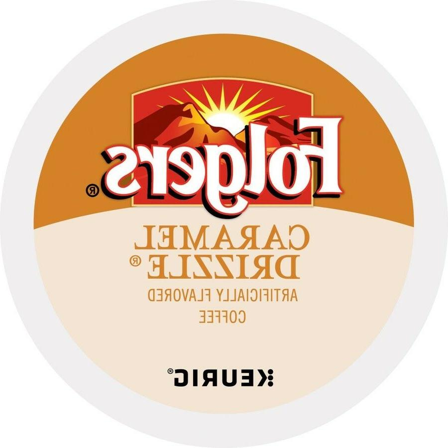 Folgers Caramel Drizzle Coffee 18 to 144 Count Keurig K cups