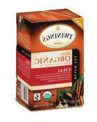 Twinings Chai Organic Tea, 20-Count Tea Bags 1.41 ounces