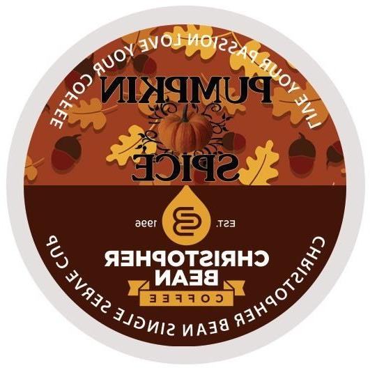 Christopher Bean Coffee PUMPKIN SPICE SINGLE CUP K Cups - On