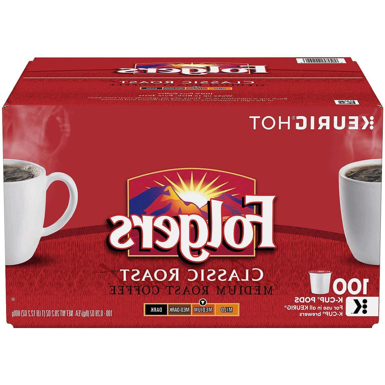 Folgers Classic Roast Coffee Medium Roast 100 K-Cups