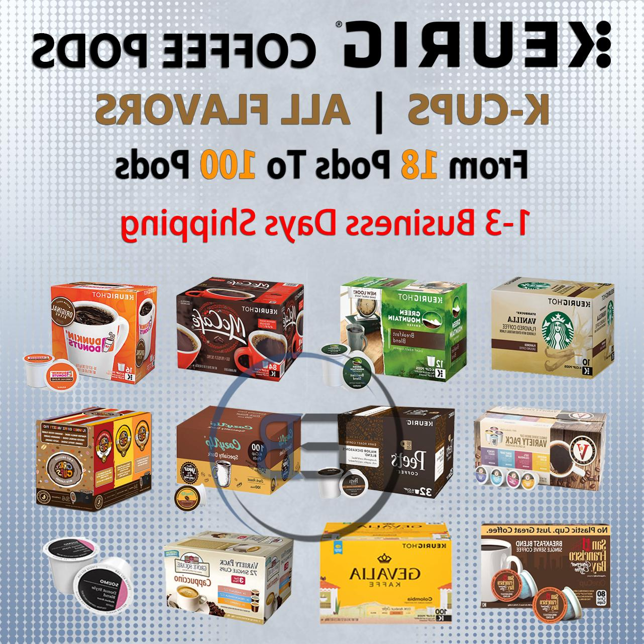 coffee k cups 18 up to 100