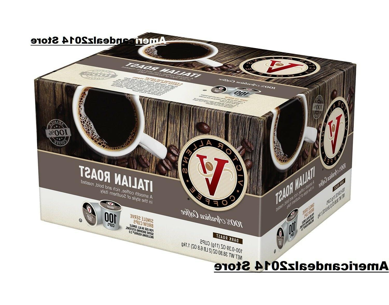 Victor Allen's Coffee K Cups, Italian Roast  Medium Roast K-