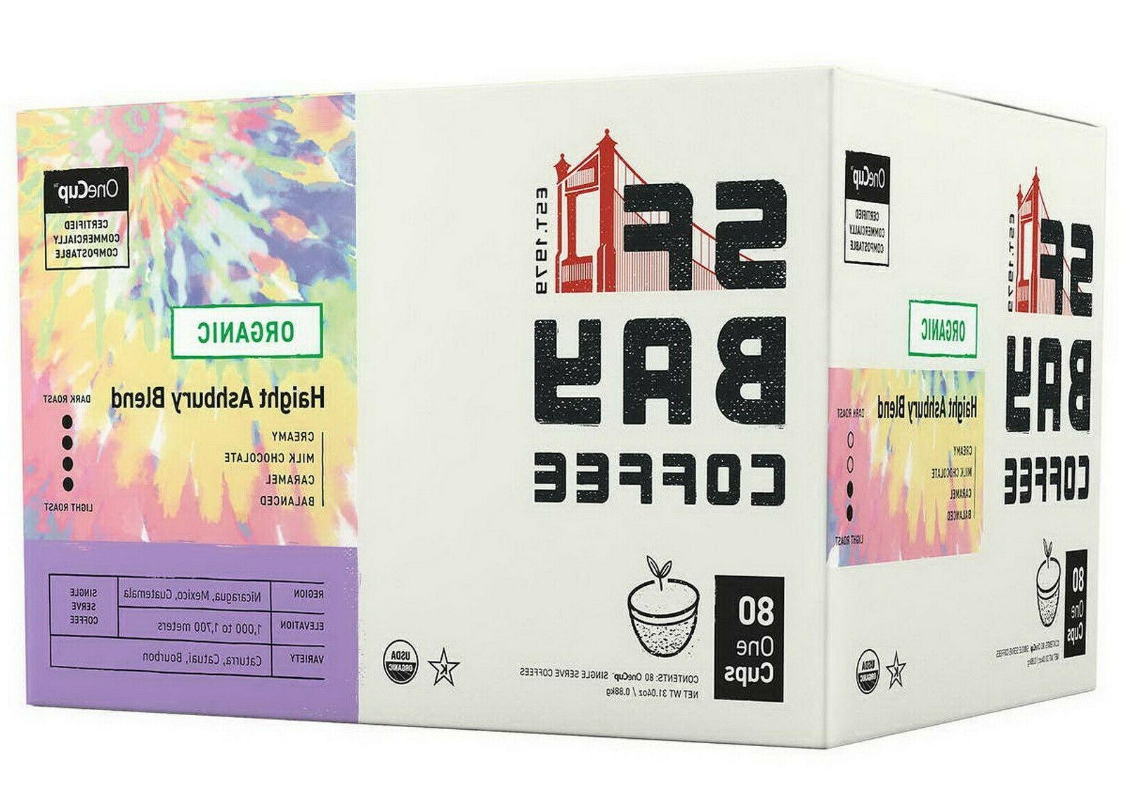 San Francisco Bay Coffee Organic Haight Ashbury Blend 80 K-C