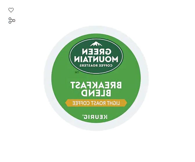Green Mountain Breakfast Blend Light Roast K-Cups 96