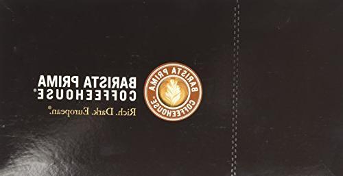 Barista Coffeehouse, Italian Dark Roast Pack for Keurig 24- Count