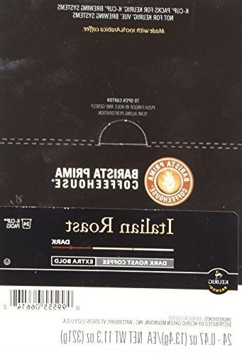 Barista Prima Dark Roast Pack Keurig Brewers, 24- Count