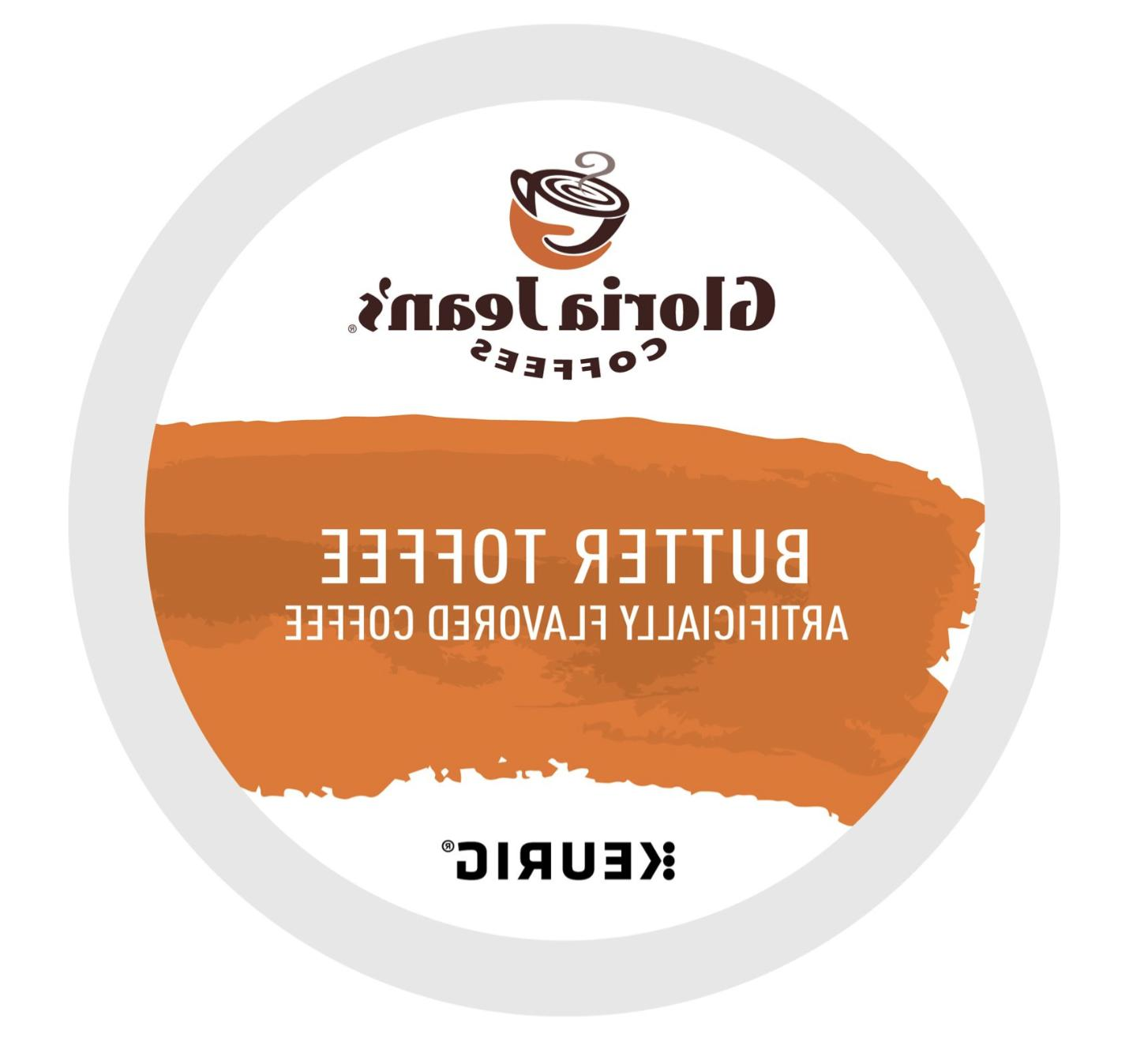 288 K-cups GLORIA JEAN'S BUTTER TOFFEE COFFEE  Fast and Fres